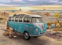 تصویر  پازل The Love & Hope VW Bus 1000pcs